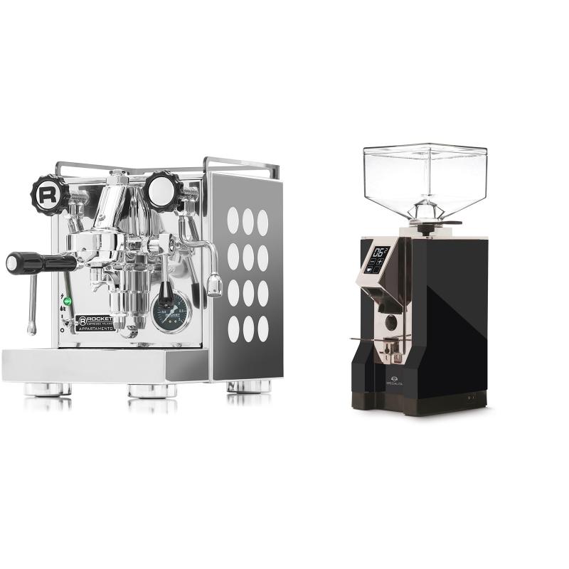 Rocket Espresso Appartamento, white + Eureka Mignon Specialita, CR black