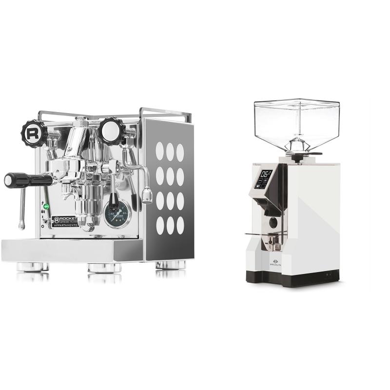 Rocket Espresso Appartamento, white + Eureka Mignon Specialita, CR white