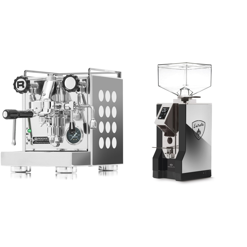 Rocket Espresso Appartamento, white + Eureka Mignon Specialita, NX black