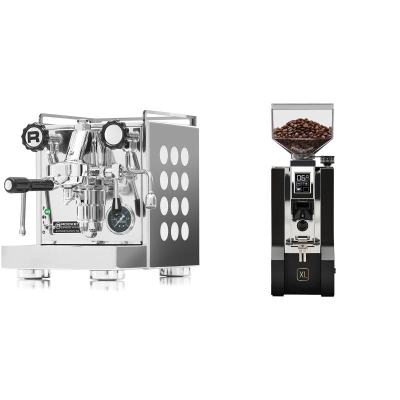 Rocket Espresso Appartamento, white + Eureka Mignon XL, CR black