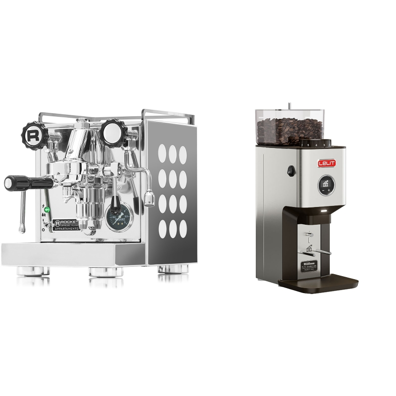 Rocket Espresso Appartamento, white + Lelit William PL72