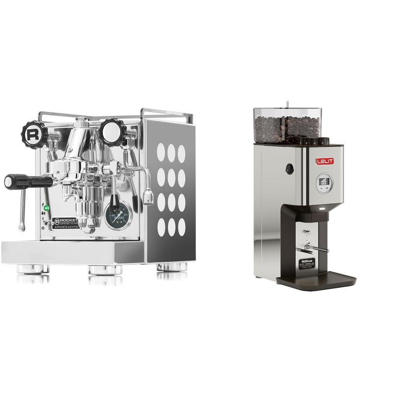 Rocket Espresso Appartamento, white + Lelit William PL72-P