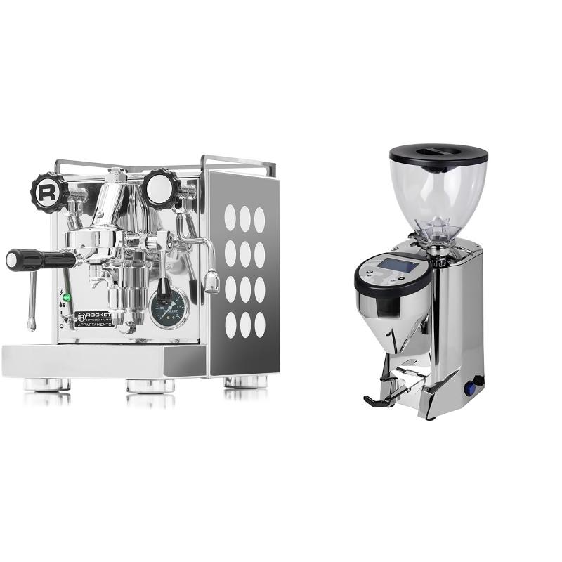 Rocket Espresso Appartamento, white + Rocket Espresso FAUSTO, nerez