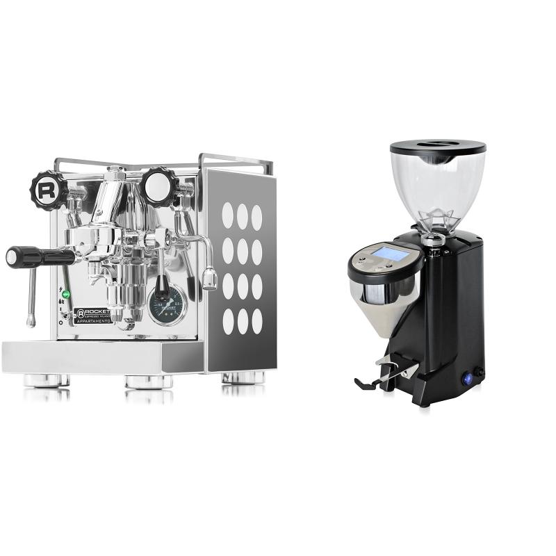 Rocket Espresso Appartamento, white + Rocket Espresso FAUSTO, černý
