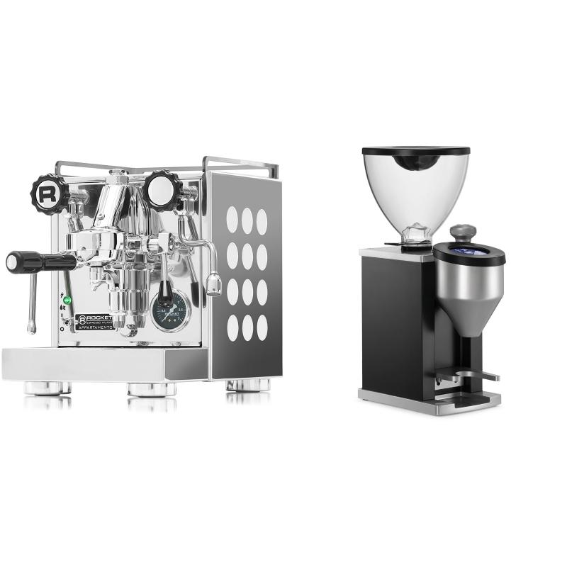 Rocket Espresso Appartamento, white + Rocket Espresso FAUSTINO, black