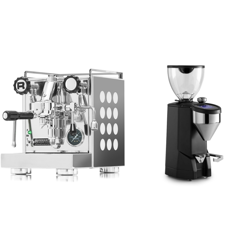 Rocket Espresso Appartamento, white + Rocket Espresso SUPER FAUSTO, black