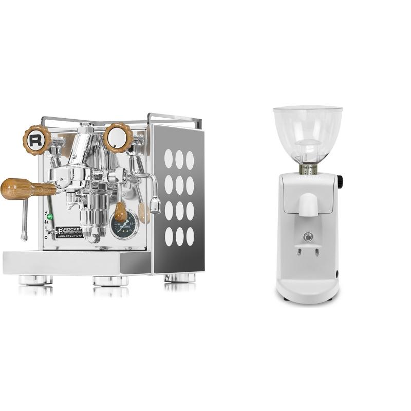 Rocket Espresso Appartamento, white, dub + Ascaso i-mini i1, bílá