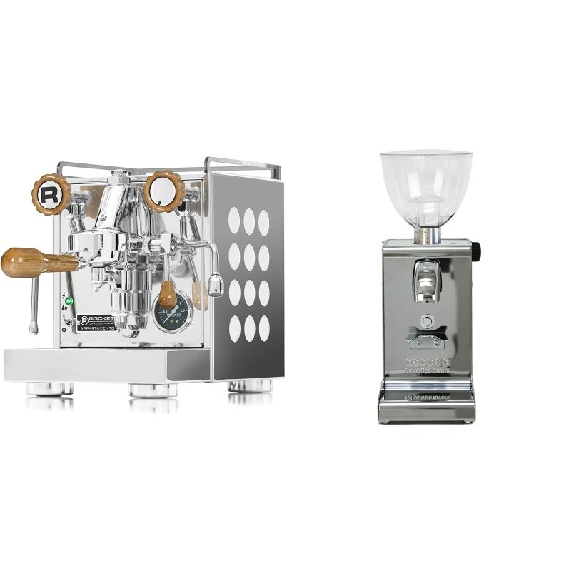 Rocket Espresso Appartamento, white, dub + Ascaso i-steel, lesk