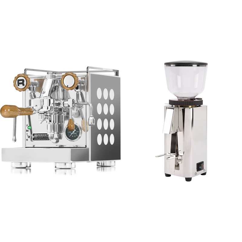 Rocket Espresso Appartamento, white, dub + ECM C-Manuale 54