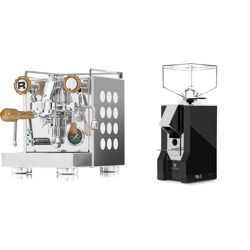 Rocket Espresso Appartamento, white, dub + Eureka Mignon Classico, CR black