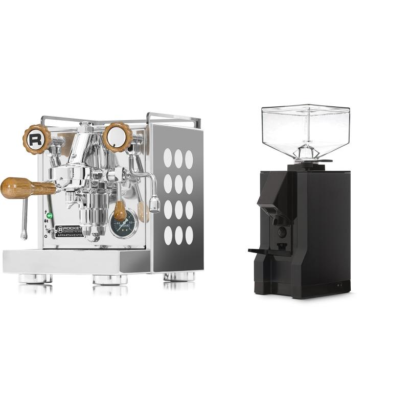 Rocket Espresso Appartamento, white, dub + Eureka Mignon Manuale, BL black