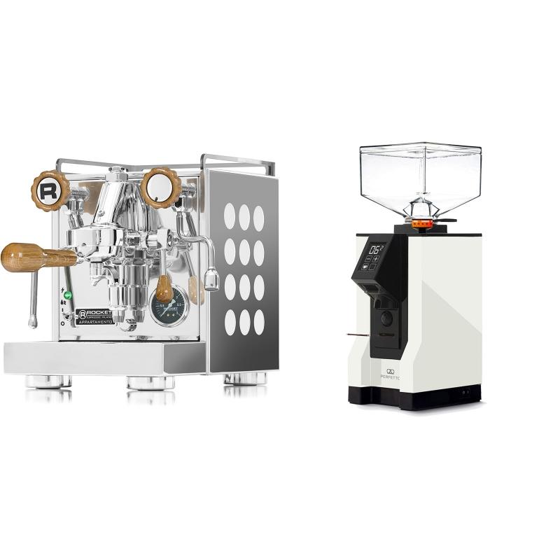 Rocket Espresso Appartamento, white, dub + Eureka Mignon Perfetto, BL white