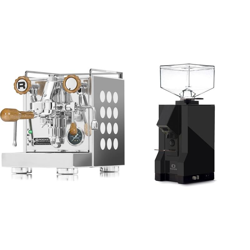 Rocket Espresso Appartamento, white, dub + Eureka Mignon Silenzio, BL black