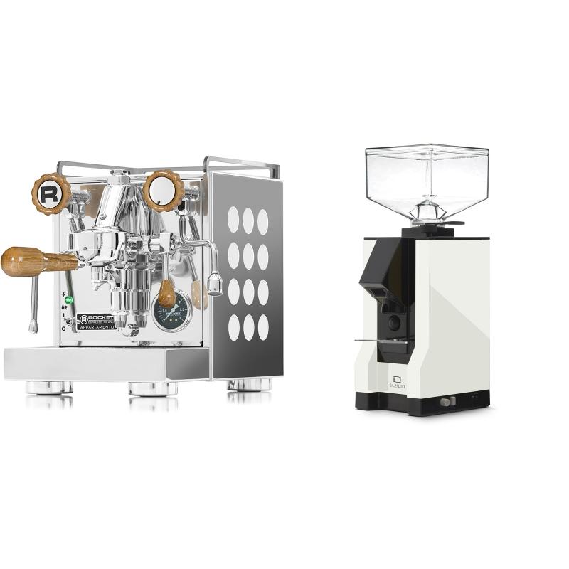 Rocket Espresso Appartamento, white, dub + Eureka Mignon Silenzio, BL white