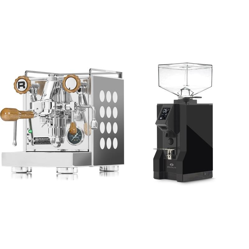 Rocket Espresso Appartamento, white, dub + Eureka Mignon Specialita, BL black