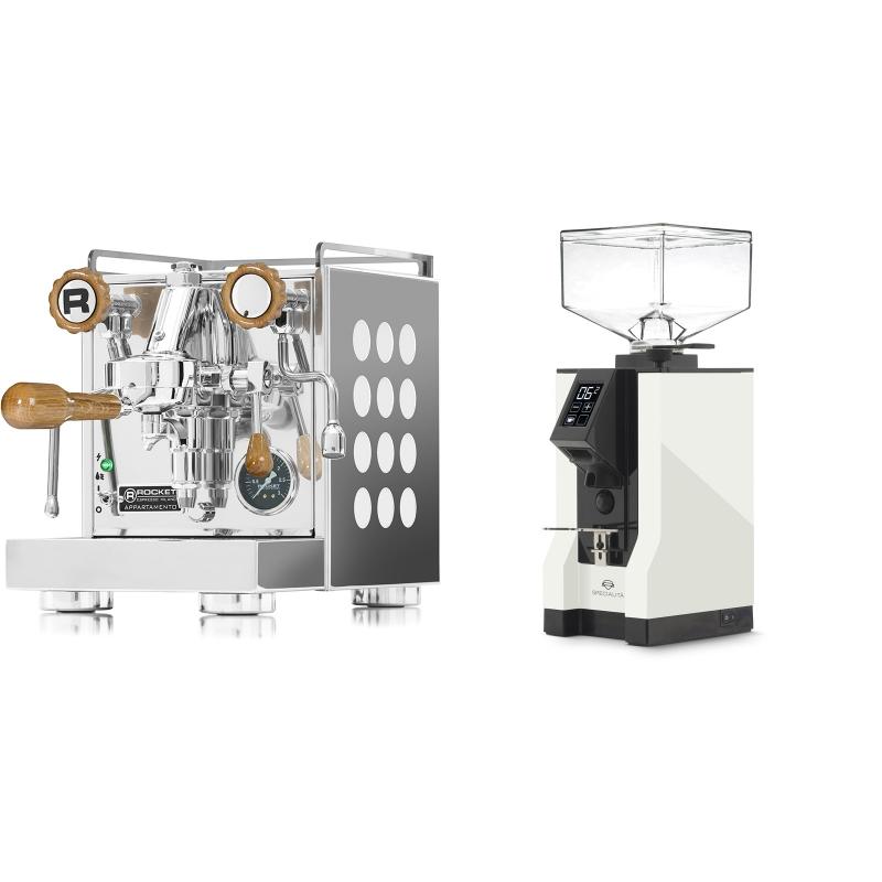 Rocket Espresso Appartamento, white, dub + Eureka Mignon Specialita, BL white