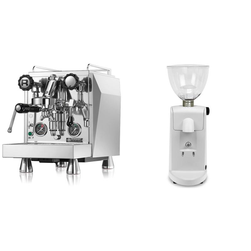 Rocket Espresso Giotto Cronometro R + Ascaso i-mini i1, bílá