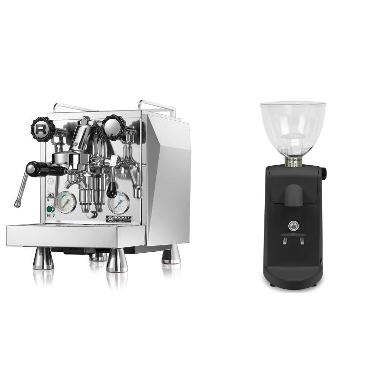 Rocket Espresso Giotto Cronometro V + Ascaso i-mini i1, černá