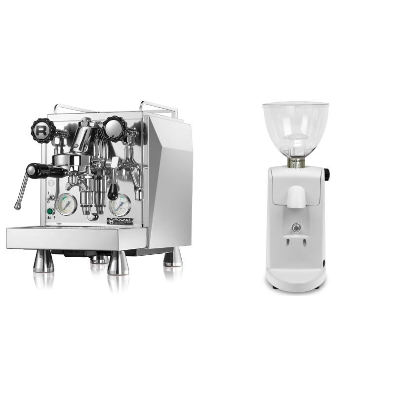 Rocket Espresso Giotto Cronometro V + Ascaso i-mini i1, bílá