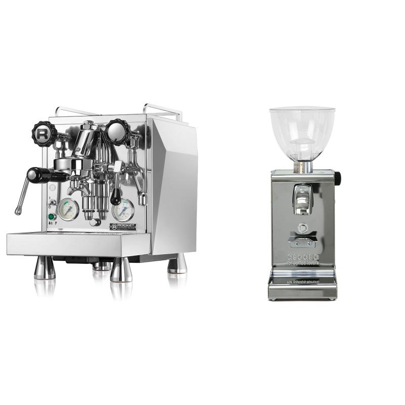 Rocket Espresso Giotto Cronometro V + Ascaso i-steel, lesk