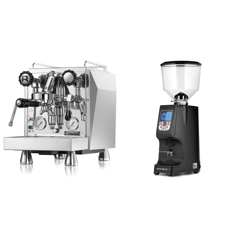 Rocket Espresso Giotto Cronometro V + Eureka Atom Specialty 65, black