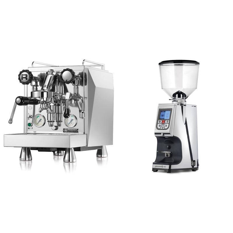 Rocket Espresso Giotto Cronometro V + Eureka Atom Specialty 65, chrome