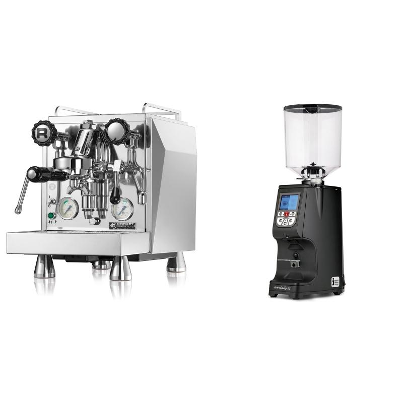 Rocket Espresso Giotto Cronometro V + Eureka Atom Specialty 75, black