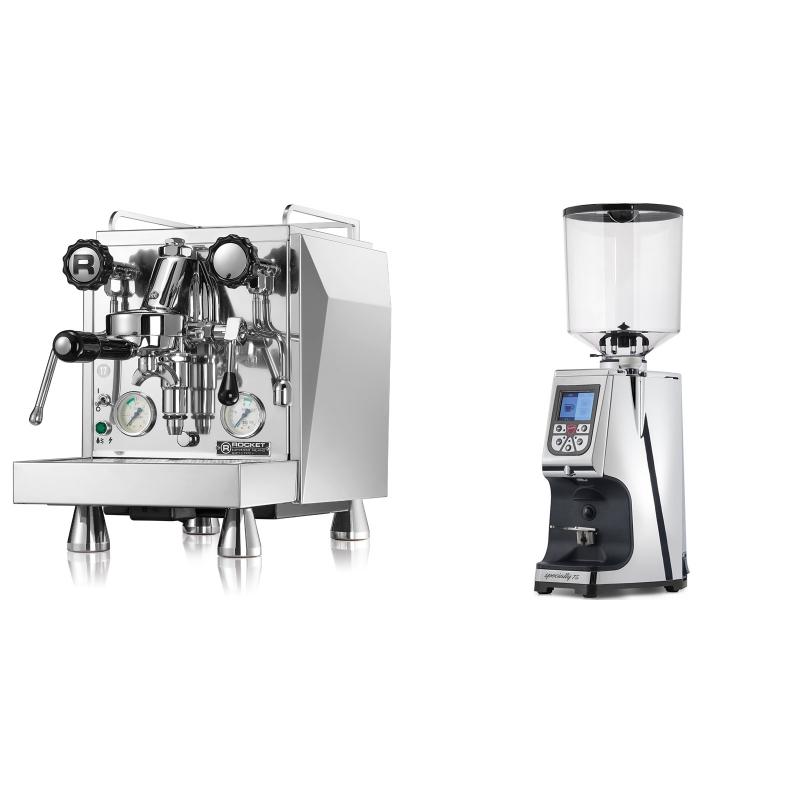 Rocket Espresso Giotto Cronometro V + Eureka Atom Specialty 75, chrome