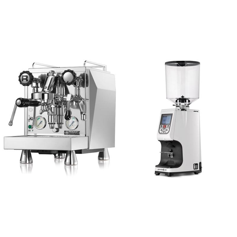 Rocket Espresso Giotto Cronometro V + Eureka Atom Specialty 75, white