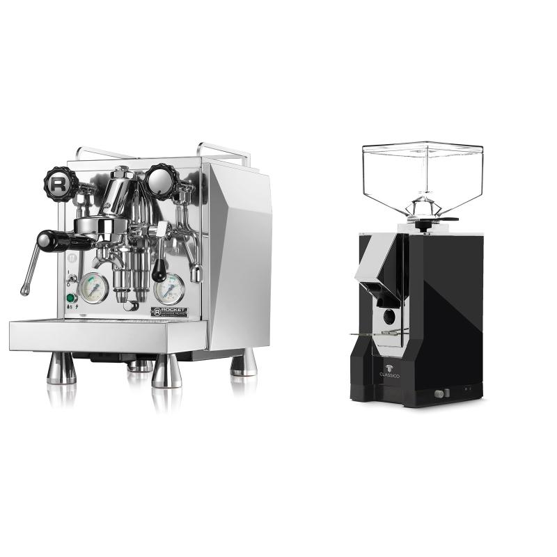 Rocket Espresso Giotto Cronometro V + Eureka Mignon Classico, CR black