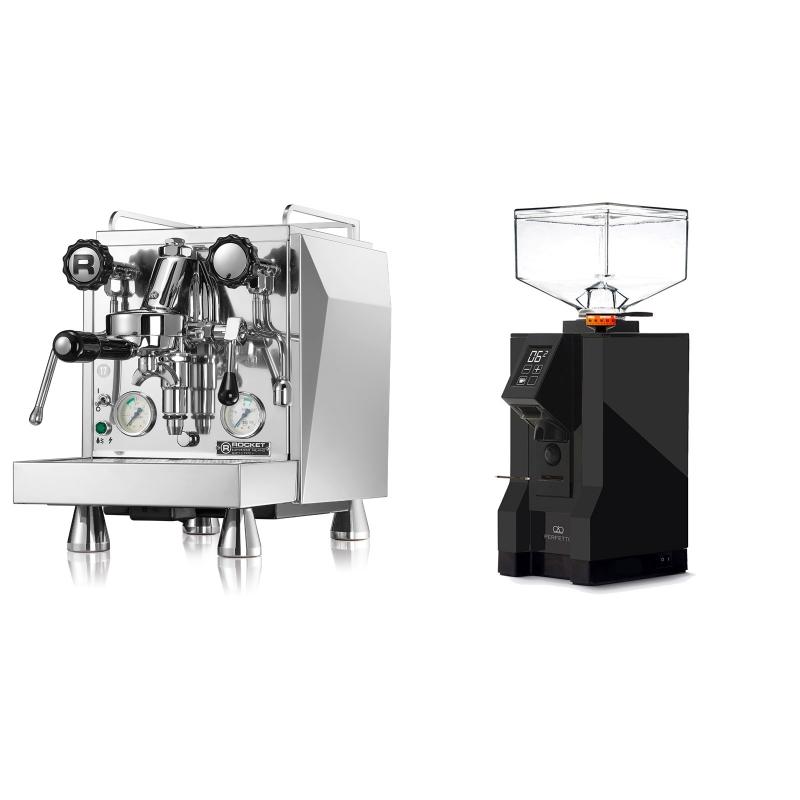 Rocket Espresso Giotto Cronometro V + Eureka Mignon Perfetto, BL black