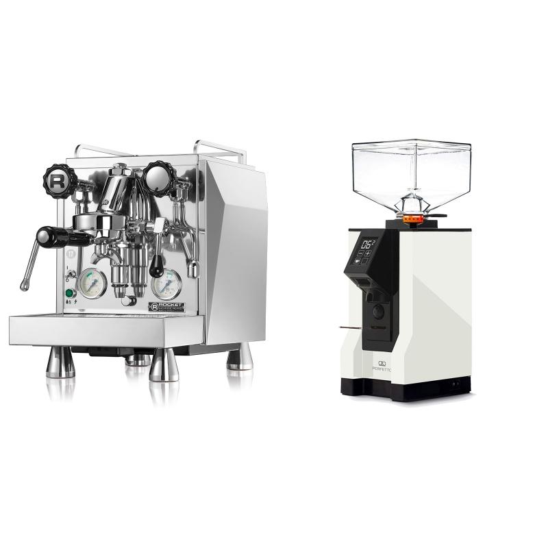 Rocket Espresso Giotto Cronometro V + Eureka Mignon Perfetto, BL white