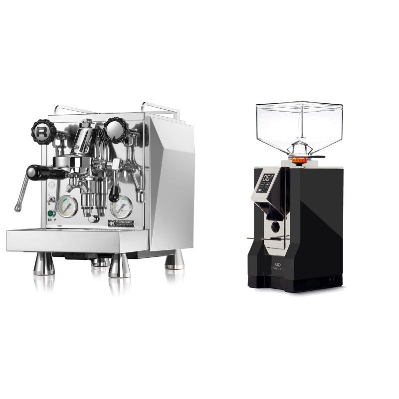 Rocket Espresso Giotto Cronometro V + Eureka Mignon Perfetto, CR black
