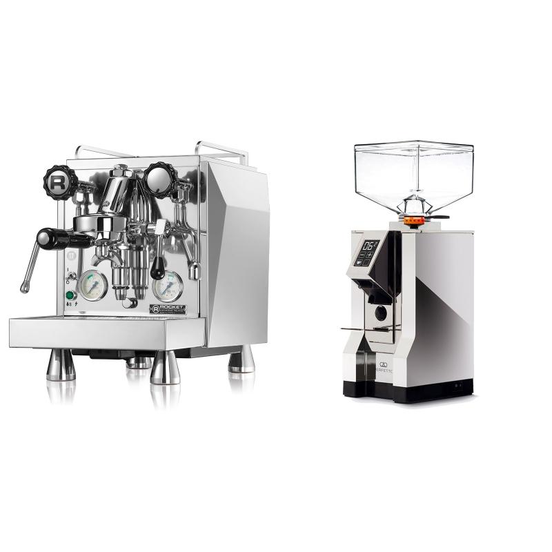 Rocket Espresso Giotto Cronometro V + Eureka Mignon Perfetto, CR chrome