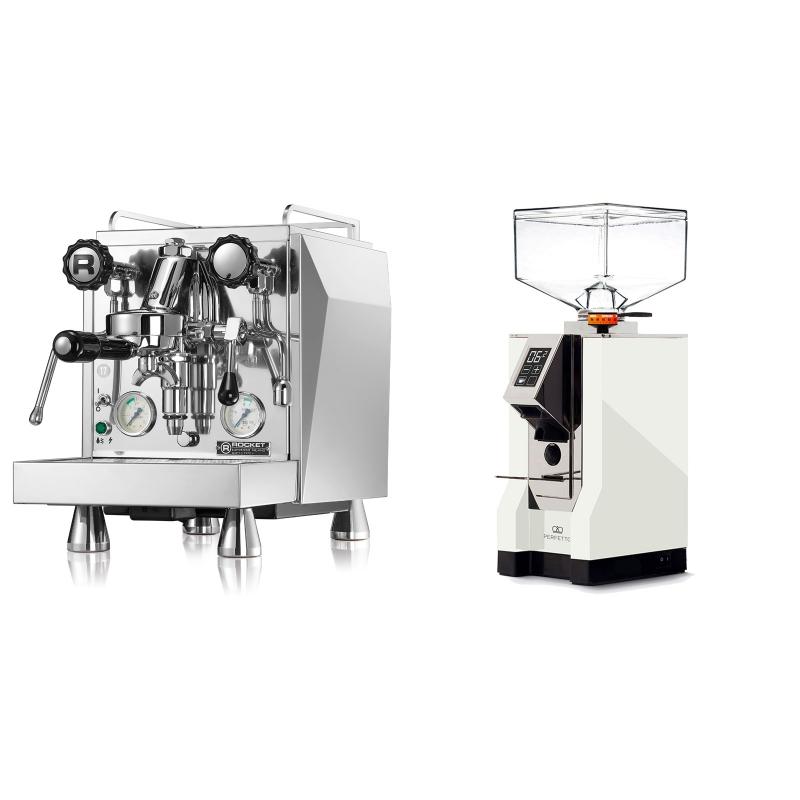Rocket Espresso Giotto Cronometro V + Eureka Mignon Perfetto, CR white