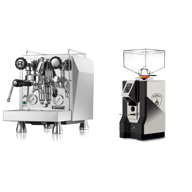 Rocket Espresso Giotto Cronometro V + Eureka Mignon Perfetto, NX black