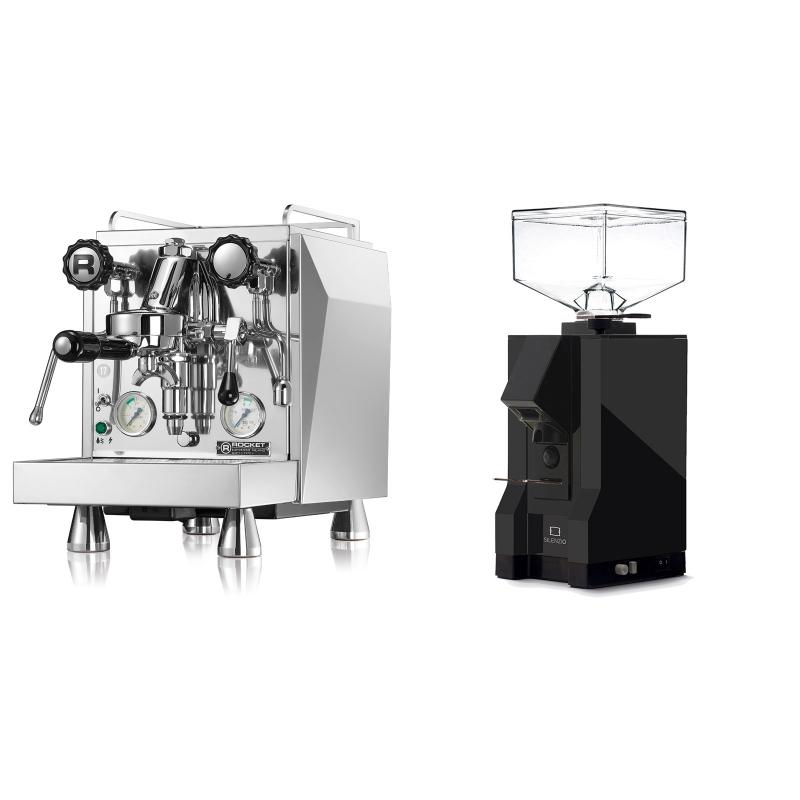 Rocket Espresso Giotto Cronometro V + Eureka Mignon Silenzio, BL black