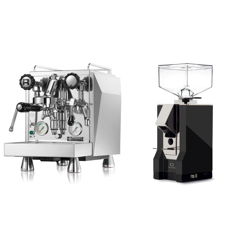 Rocket Espresso Giotto Cronometro V + Eureka Mignon Silenzio, CR black