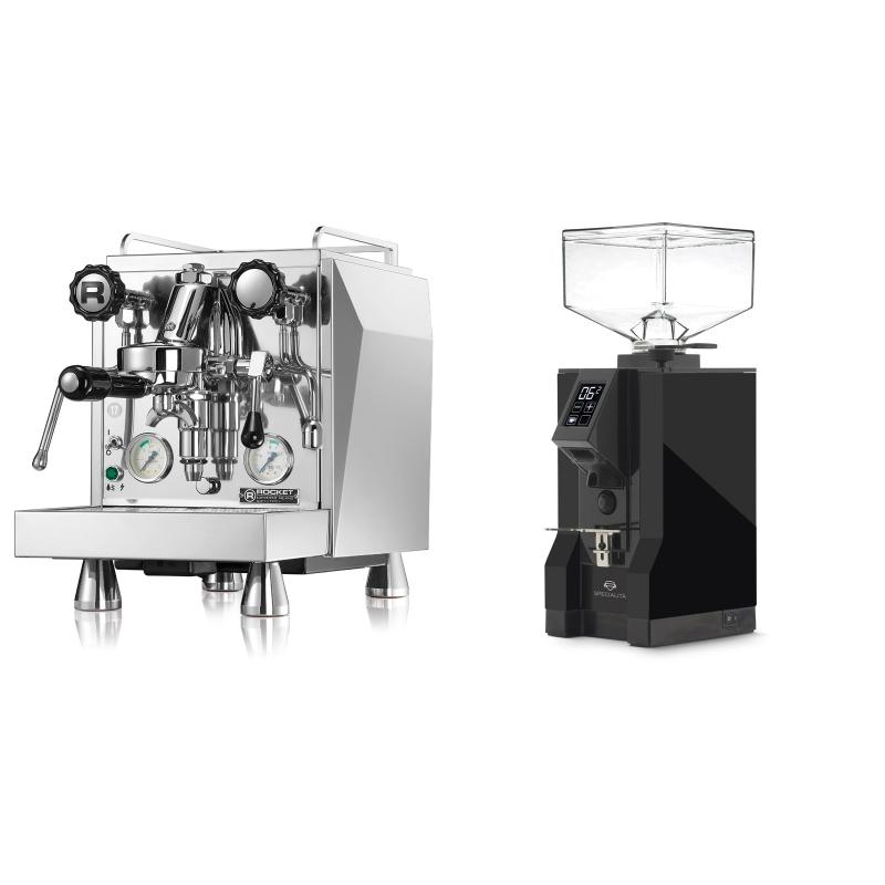 Rocket Espresso Giotto Cronometro V + Eureka Mignon Specialita, BL black