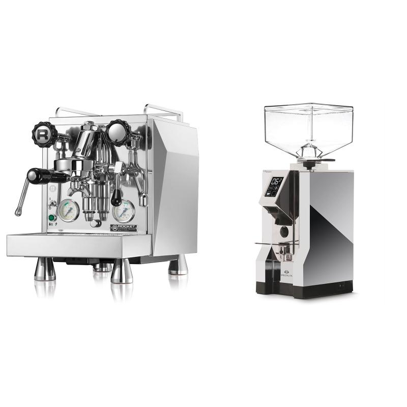 Rocket Espresso Giotto Cronometro V + Eureka Mignon Specialita, CR chrome