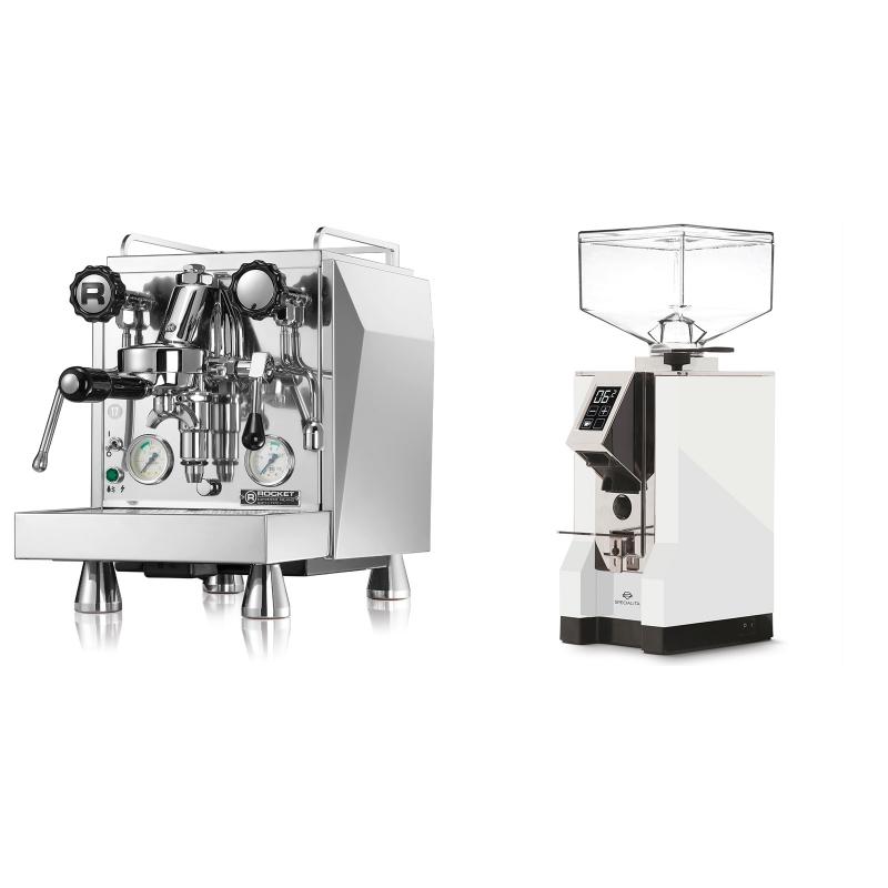 Rocket Espresso Giotto Cronometro V + Eureka Mignon Specialita, CR white