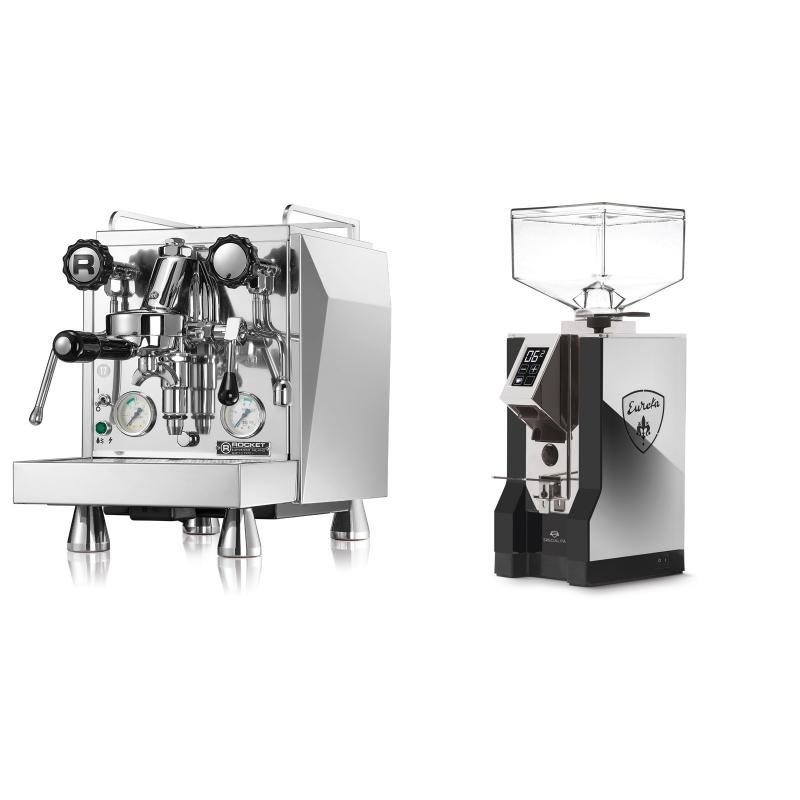 Rocket Espresso Giotto Cronometro V + Eureka Mignon Specialita, NX black