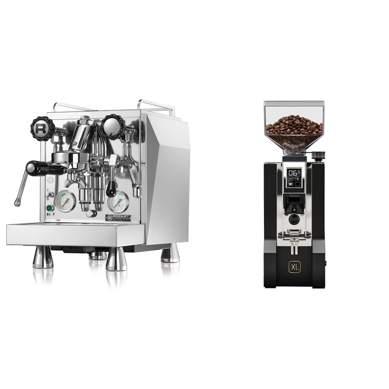 Rocket Espresso Giotto Cronometro V + Eureka Mignon XL, CR black
