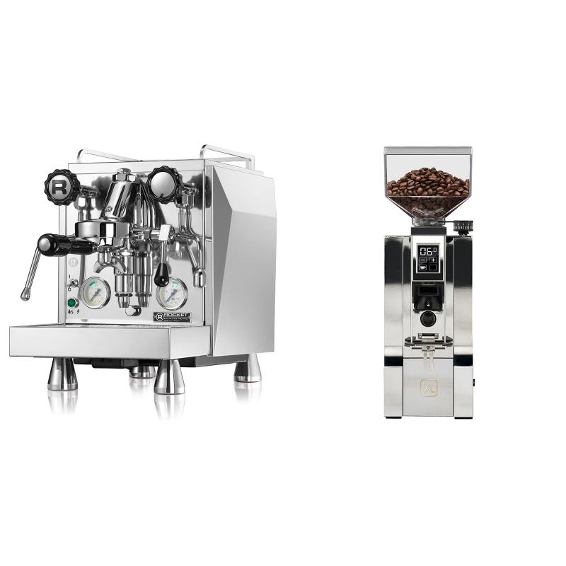 Rocket Espresso Giotto Cronometro V + Eureka Mignon XL, CR chrome