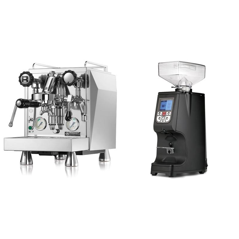 Rocket Espresso Giotto Cronometro V + Eureka Atom 60, black