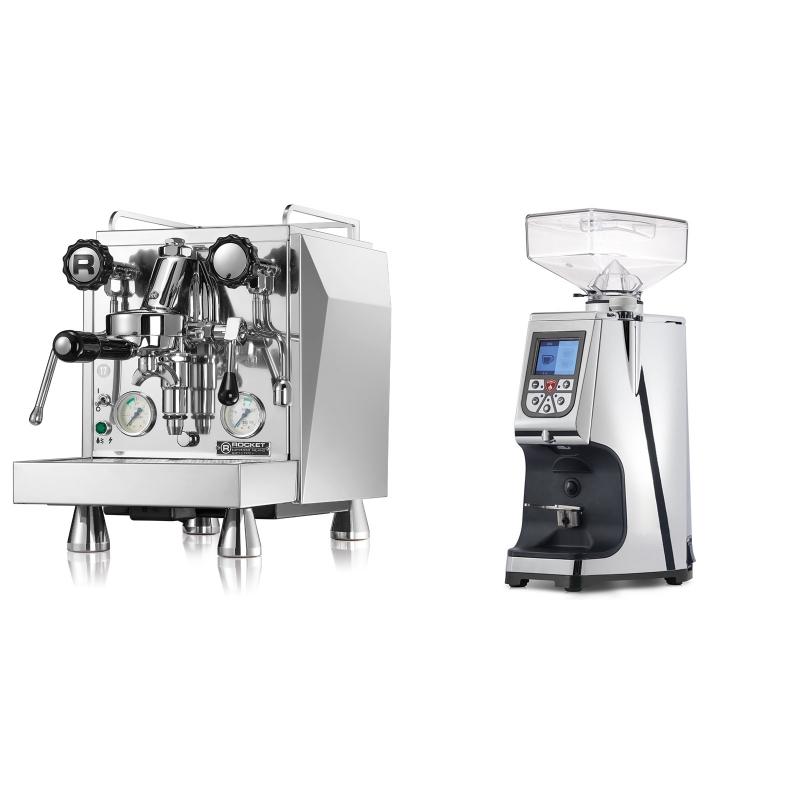Rocket Espresso Giotto Cronometro V + Eureka Atom 60, chrome