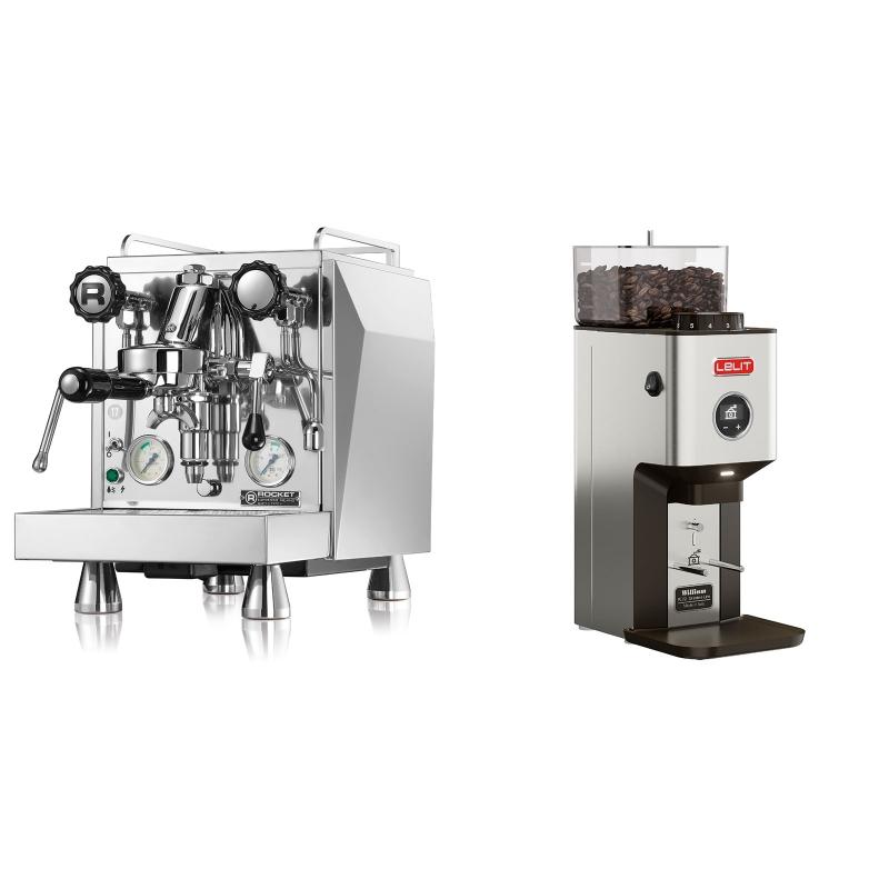 Rocket Espresso Giotto Cronometro V + Lelit William PL72