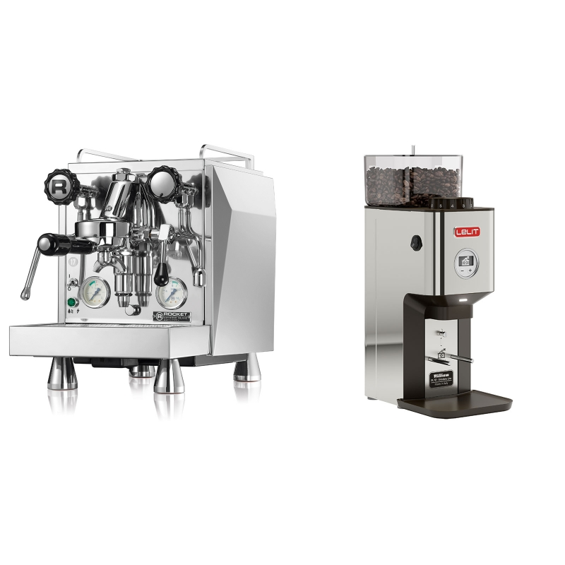 Rocket Espresso Giotto Cronometro V + Lelit William PL72-P