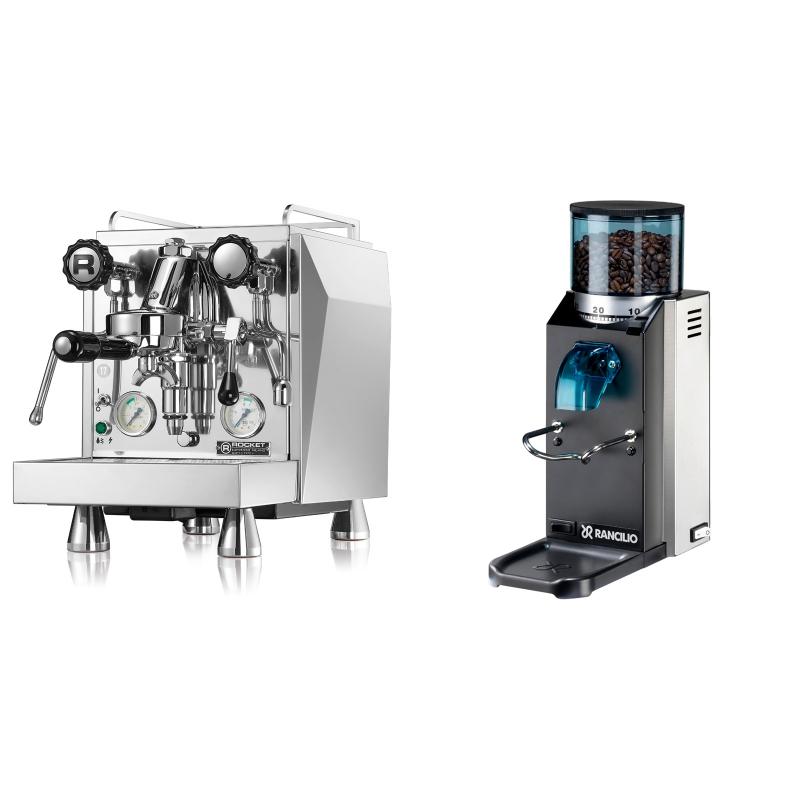 Rocket Espresso Giotto Cronometro V + Rancilio Rocky Doserless