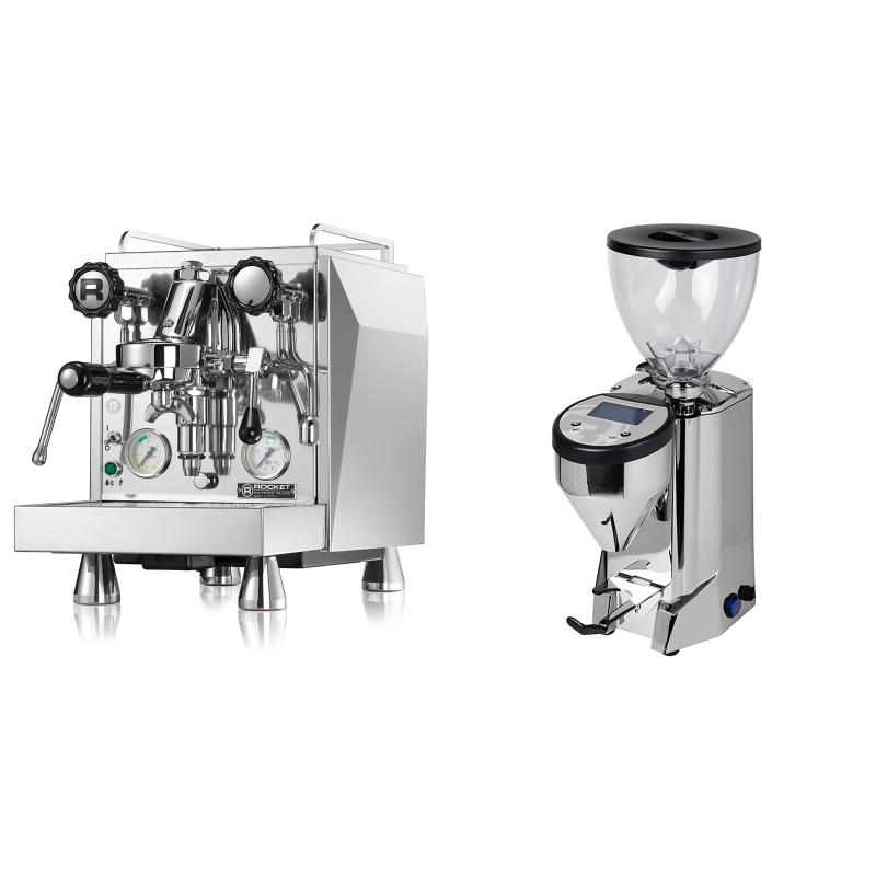 Rocket Espresso Giotto Cronometro V + Rocket Espresso FAUSTO, chrome